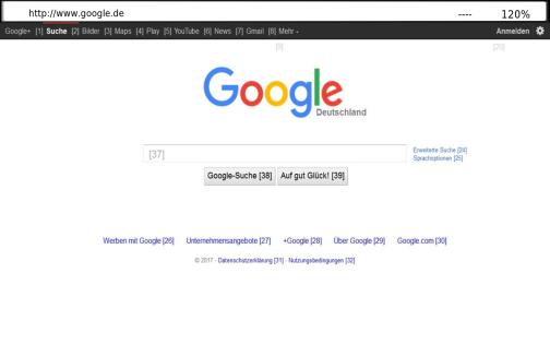 Mouseless Web Browser
